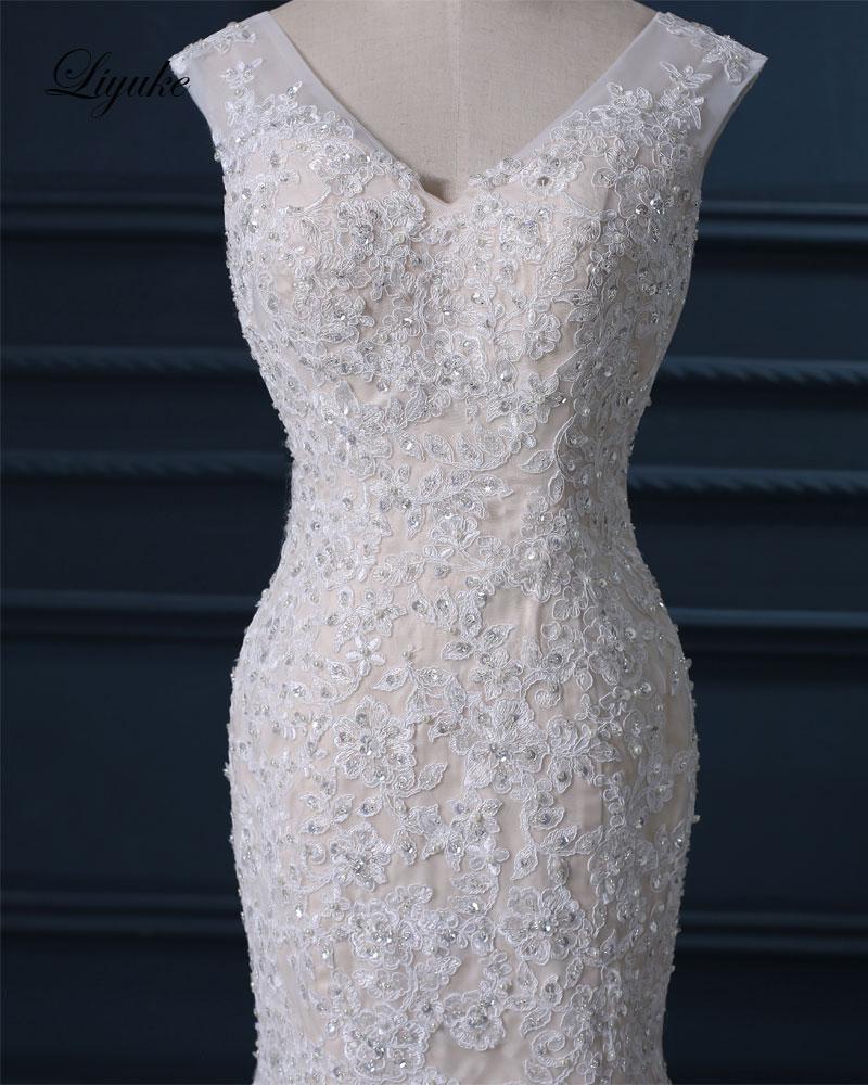 Liyuke Κομψό Σατέν Τούλι Γλυκιά Φόρεμα - Γαμήλια φορέματα - Φωτογραφία 5