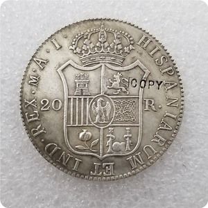 1809 Испания 20 Reales-Joseph Napoleon копия памятные монеты-копия монет медаль коллекционные монеты