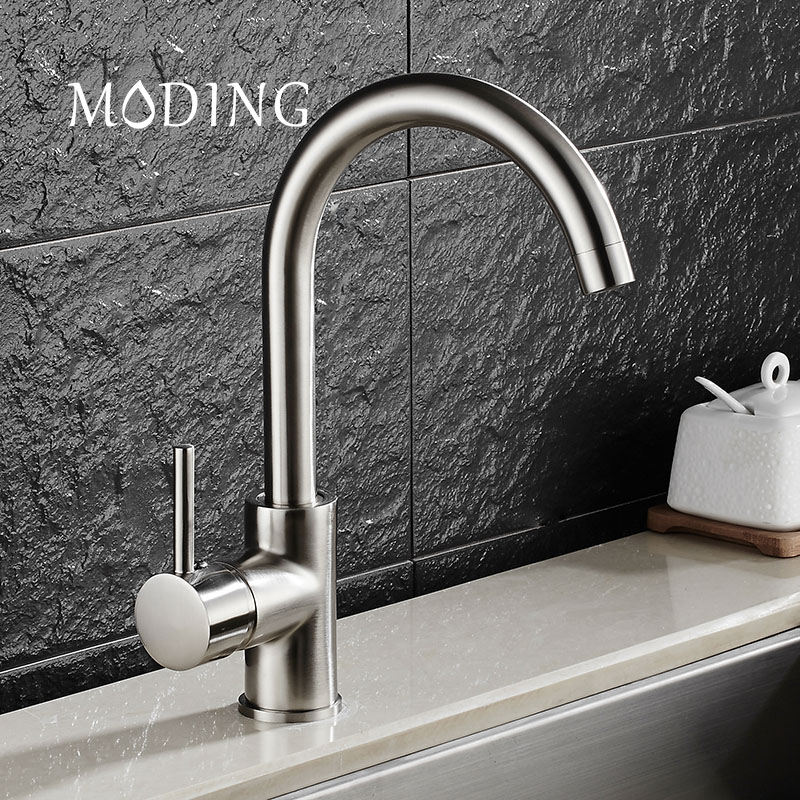 MODING Brand Brass Water Tap Faucet Waterfal Sink Faucet Kitchen Faucet Mixer Tap Home Health Single