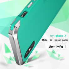 Shockproof metal case For iphoneX XS XR Aluminum with PC backboard anti-fall slim Case cover for iphone xs max solies case