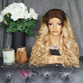 8А Класс Бразильский 200% Плотность Ombre Человеческие Волосы Парика 4/613 Легкий блондинка Два Тона Парик 613 Полный Шнурок Человеческих Волос Парики Блондинки