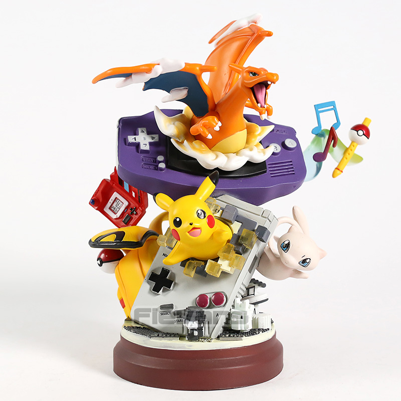 Anime Monster Charizard Pikachu Mew PVC Statue Figure Collectible Model Toy