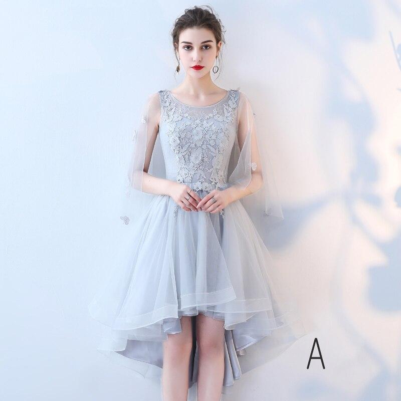 LAMYA Vintage hoge lage prom jurken vrouwen elegante avond feestjurk - Jurken voor bijzondere gelegenheden - Foto 4