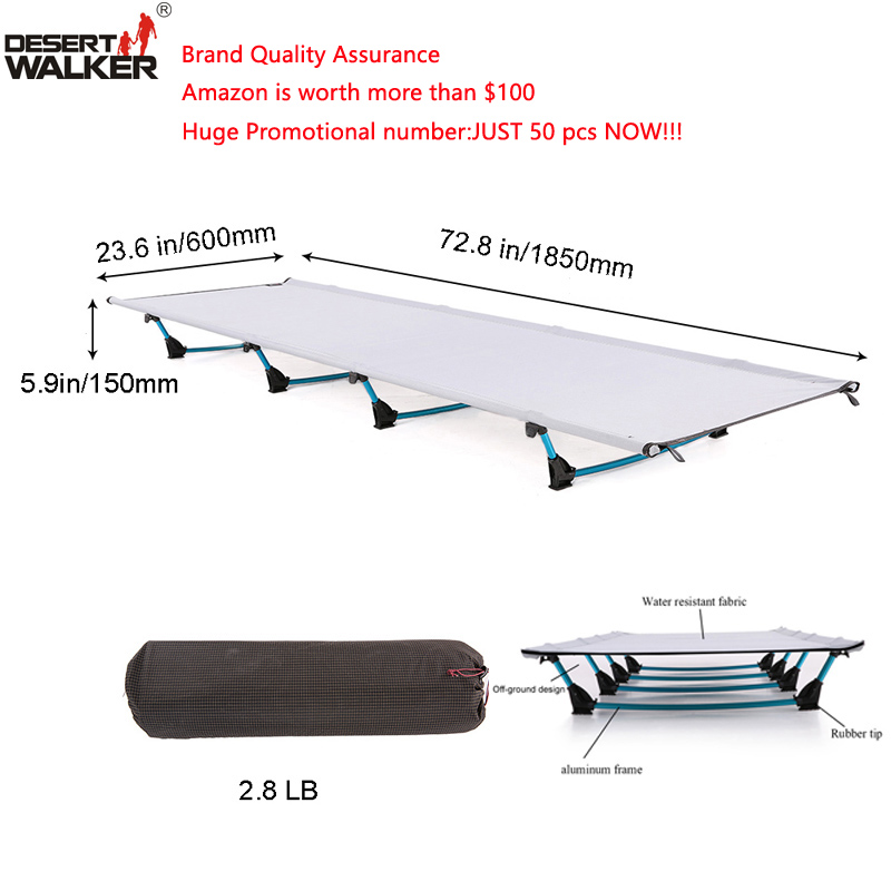 2.8LB Camping Mat W60*L185CM Ultralight Folding Bed Weight Limit of Measure 440LB Perfect Hiking Travel Cot Home Bed Comfortable