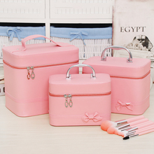 Professional Cosmetic Bag Portable Large Capacity Manicure Beauty Storage Box Cosmetic Case Waterproof Lovely The New MakeUp Bag цена и фото