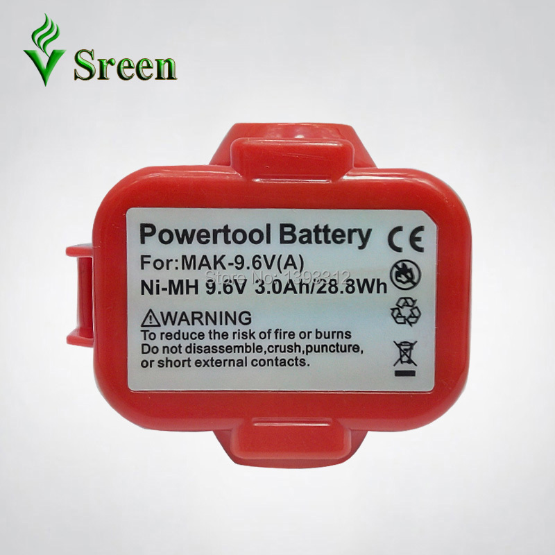 Sale 9.6V NI-MH 3000mAh Rechargeable Power Tools Battery Packs Replacement for Makita 9122 9120 9100 9100A 9101 PA09 6207D цена 2017