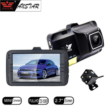 ANSTAR 3″ Car DVR Camera Dashcam 170 Degree Dual Lens Rear View Camera Mirror Video Recorder Registrar Night Vision Car DVRS