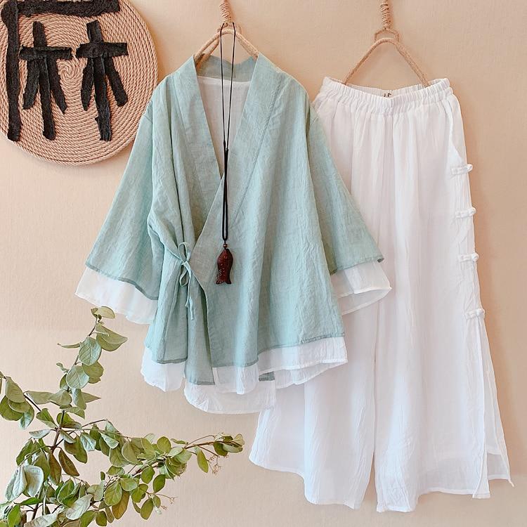 2020 Tops Hanfu Top Women's Tang Suit Chinese Blouse Tops Traditional Hanfu  Traditional Women Chinese Style Shirt Woman