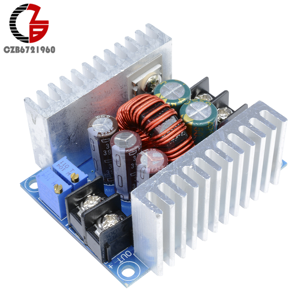 cnc dc dc dc 12v to 5v step down module adjustable voltage and current constant current and constant voltage power supply module 300W 20A DC-DC Adjustable Step Down Buck Converter Module Constant Current Voltage Regulator Power Supply Transformer LED Driver