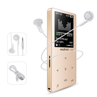 New Metal Bluetooth Sport MP3 Player Portable Audio 8GB with Built in Speaker FM Radio APE Flac Music Player(Gold)