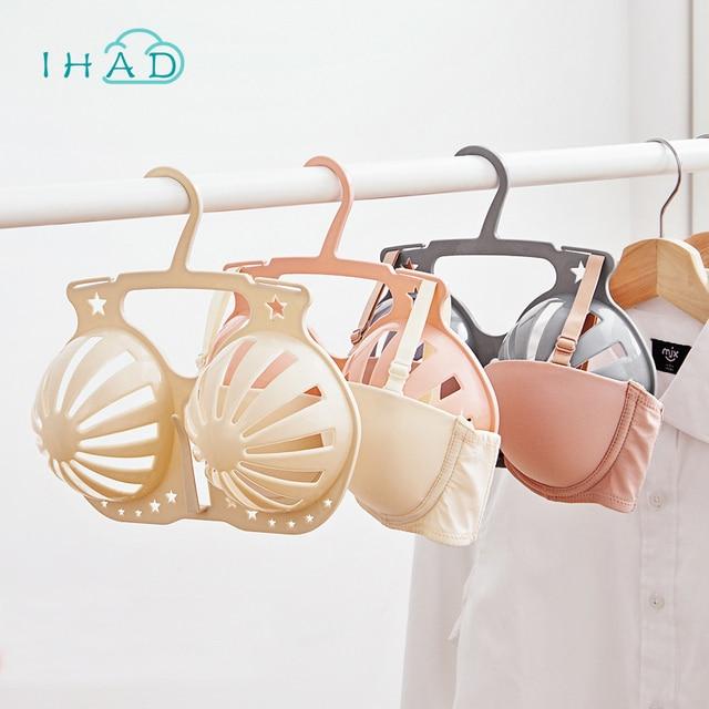 f54c7d2c56bd5 Plastic drying bra rack brasholder underwear organizer anti-slip clothing  clip Anti-deformation bra drying hangers 2 pcs