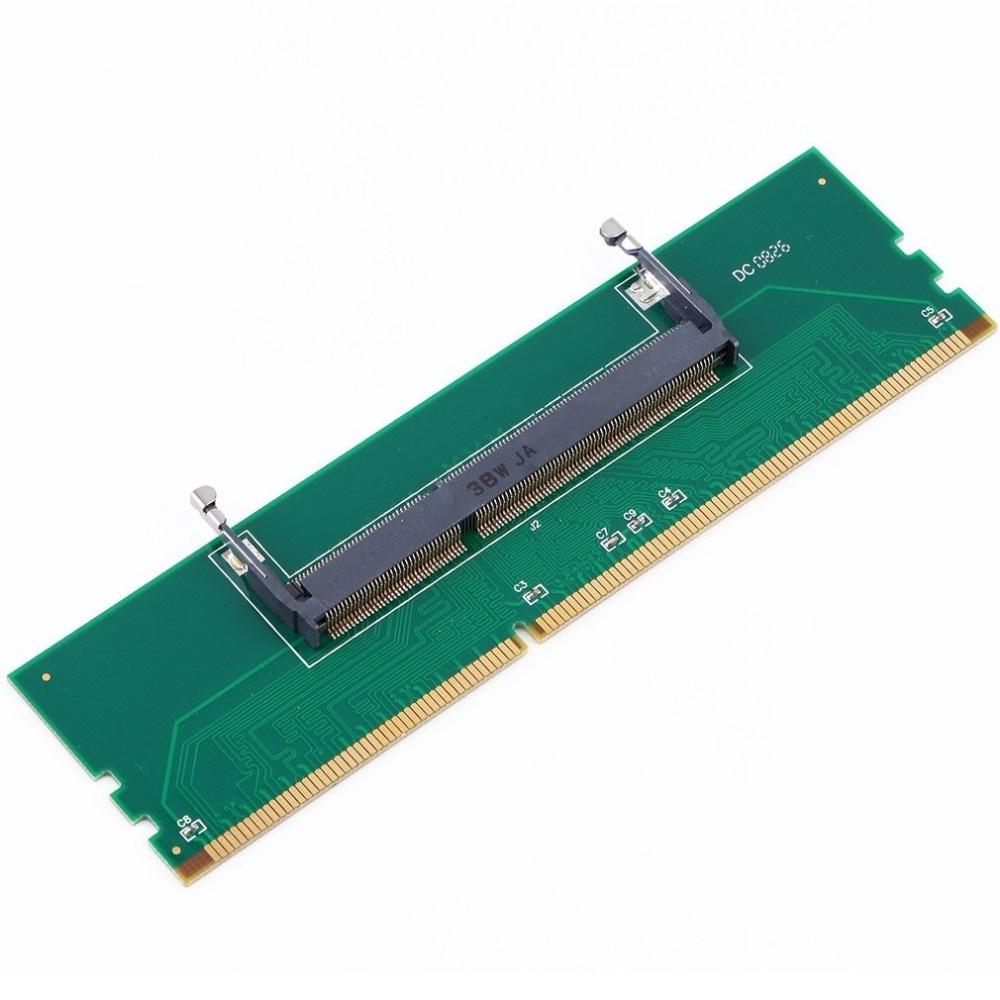 Professional DDR3 Laptop SO-DIMM to Desktop DIMM Memory RAM Connector Desktop Adapter Card Memory Tester Green