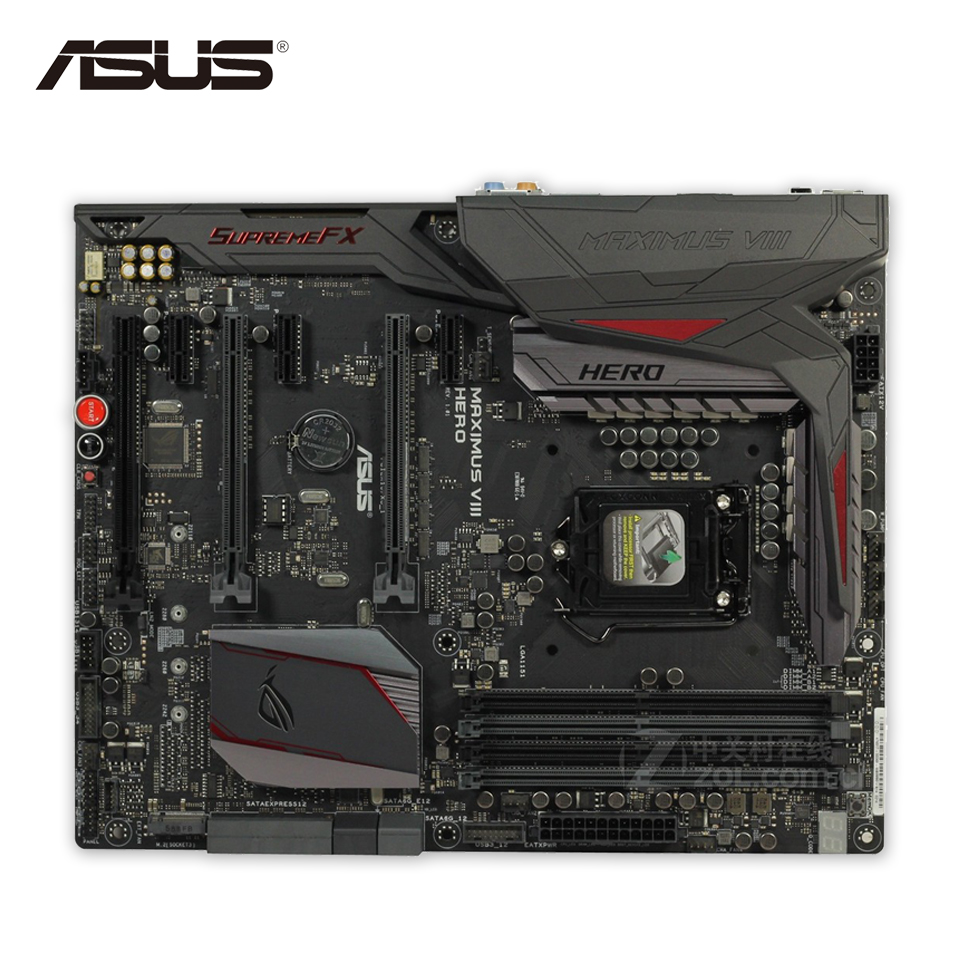 все цены на  Asus MAXIMUS VIII HERO Original Used Desktop Motherboard M8H Z170 Socket LGA 1151 i7 i5 i3 DDR4 64G SATA3 ATX  онлайн