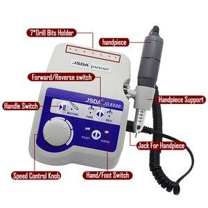 Image 2 - Профессиональная электрическая машинка для маникюра и педикюра Jsda, 65 Вт, 35000 об/мин, полировщик для машинки для дизайна ногтей, 220 В