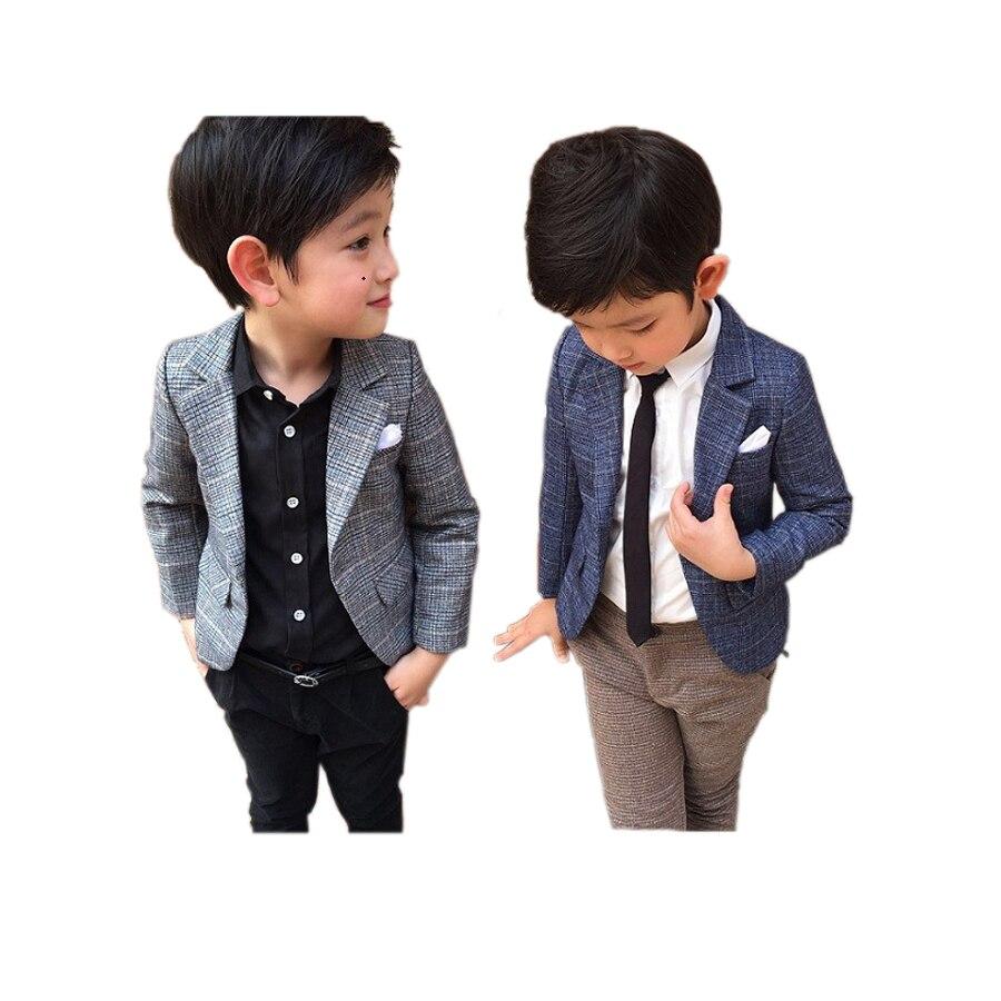 reputazione affidabile acquista per scarpe eleganti US $23.3 23% di SCONTO|Di modo del ragazzo del cappotto della giacca  sportiva di stile del signore del plaid giacca sportiva giacca per 3 8years  ...