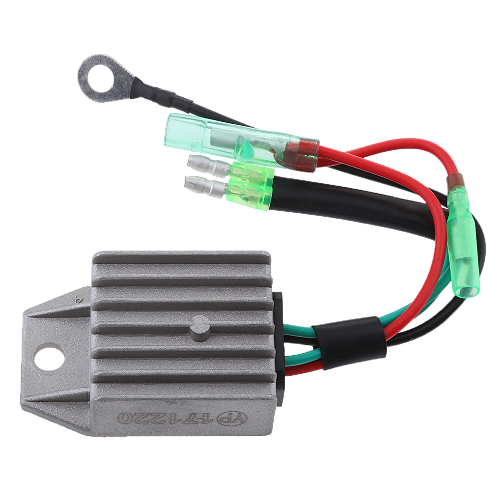 1 Pcs 4 Wires Boat Voltage Regulator Rectifier Fit Universal 2-Stroke 15HP Marine Boat Outboard 1.57x1.38x0.87″ Aluminium Alloy