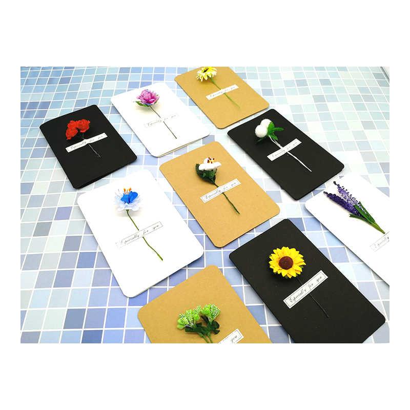 Air sec fleur artificielle carte de voeux Roses pour Festival mariage fausse fleur Decora Scrapbooking bricolage couronne cadeau boîte