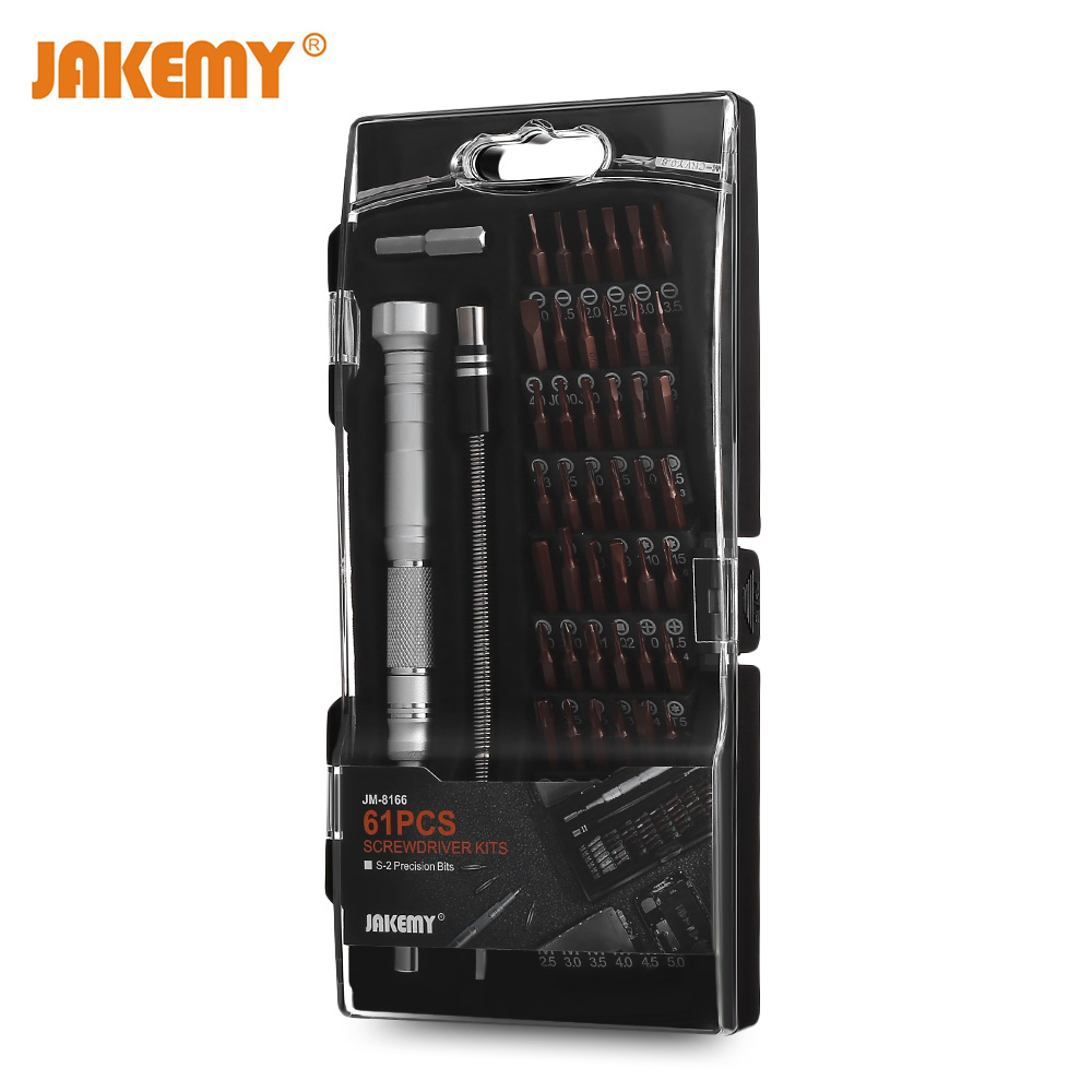 JAKEMY JM - 8166 61 in 1 Professional Screwdriver Tools Set Multi-Function Computer PC Mobile Phone Cellphone Repair Home Tools universal rachet jakemy jm 6102 screwdriver multitool mobile phone repair tool screw driver set for pc notebook computer