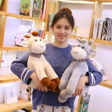 New 1pc 25-45cm Cute Pudding Deer Plush Toys Soft Animal Sika Deer Pillow Dolls Kawaii Stuffed Plush Animals Toy Kids Baby Gifts недорого