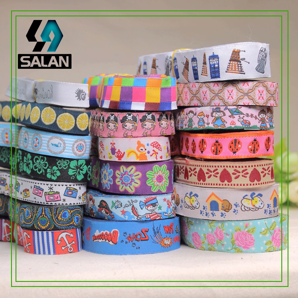 Jacquard belt factory direct 2CM national ribbon exquisite handmade fabric accessories 6 color into the spot national lace