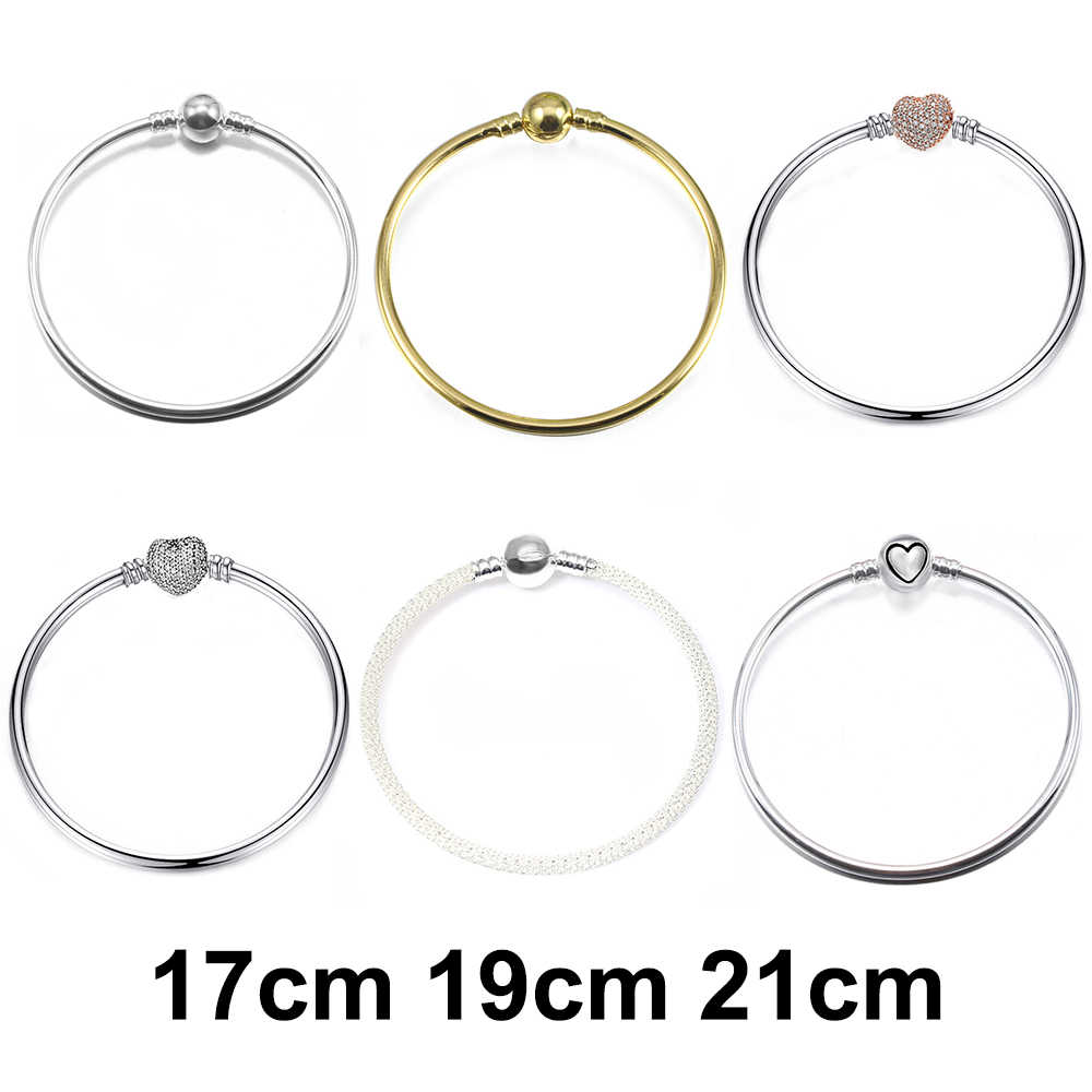 DINGLLY High Quality Silver Charm Bracelets For Women Lovers DIY Original Brands Beads Bracelet & Bangles Homme Jewelry Gifts