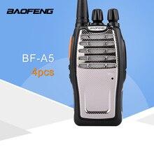 (4 PCS) BaoFeng UHF ווקי טוקי BF A5 16CH VOX + שלגון פונקצית משלוח חינם שתי דרך רדיו