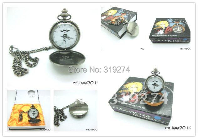 Wholesale/Retail 2014 Fashion Free Shipping FS Fullmetal Alchemist Edward Elric Pocket Watch Cosplay New