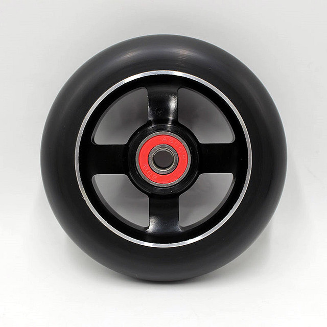 2 wheels! Free shipping!  Thick PU high quality stunt scooter wheels / wheel roller skis / scooter wheels 100mm/ ABEC-9 bearings