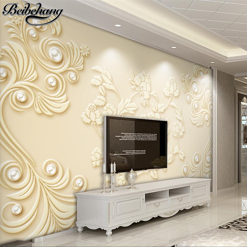 Beibehang custom 3d wallpaper mural three dimensional for Mural 3d simple