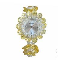 New pink flower crystal watch for women in summer 2019 rose zircon jewelry quartz watch for women's watches