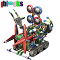 IBLOCKS Super Large Electric Robot Assemblage Gear Blocks Learning Education DIY Model Building Toys For Children