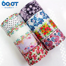 Ribbons Ooot Baorjct 25mm Wedding-Accessories Flower Handmade-Material Grosgrain Thermal-Transfer-Printed