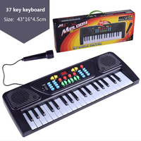37 Keys Kids children Organ digital Electric Piano 42*16*5.5cm Black keyboard Musical Educational Toys Musical Instrument Gifts