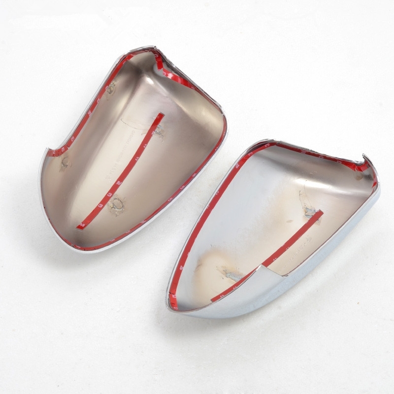 2 pièces ABS chromé côté porte rétroviseur capots de bordure accessoires de voiture adaptés pour Nissan Qashqai 2007 2008 2009 2010 2011 2012 2013 - 4