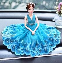 1 peça Do Carro Styling Acessórios Interiores Ornamentos Bonito Princesa Boneca de Presente Perfeito Para O Aniversário de Casamento Dia de Comemoração