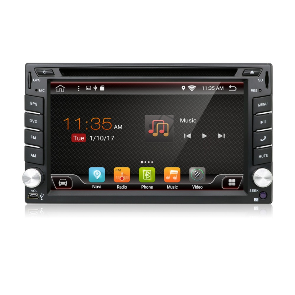 universal 2 din android 6 0 quad 4 core car dvd player gps. Black Bedroom Furniture Sets. Home Design Ideas