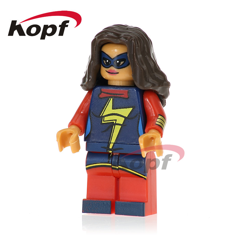 Single Sale Ms. Marvel Commissioner Maes Blazing Skull Invisible Woman Super Heroes Building Blocks Children Gift Toys PG239
