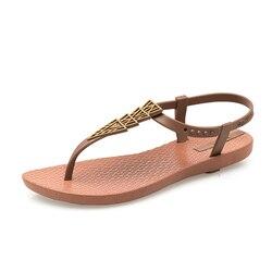 2019 Brand Flat Beach Sandals Women Sandals Ladies Slippers Bohemian Sandles Female Flip Flops Summer Shoes Woman sandales femme 2