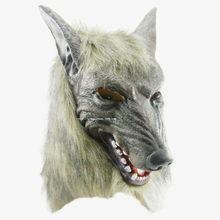 Máscara de Halloween máscara de la cabeza del lobo de silicona del diablo del Terror