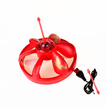 13.9*13.1cm BOHS Magic Hand Induction Floating UFO  Saucer Aircraft Flash Remote Control Helicopter Frisbee Toys