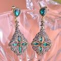 Fashion Turkish Earings Maxi Brincos Bijuterias Shiny Brand Vintage Pendientes Royal Design Stud Earrings Women Aretes Brinco