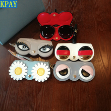 2019 Fashion Hot Animal Cartoon Women Portable Case PU Leather Sun Eye Glasses Box For Eyeglass Sunglasses Cute Protection Bag