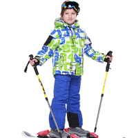 Brand New Ski Suits Boys Girls Warm Waterproof Children Skiing Snowboarding Jackets Pants Winter Kids Child