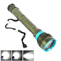 New 10000 Lumen 7x CREE XML T6 LED Diving Flashlight 100M Underwater Torch Lamp Waterproof Linternas