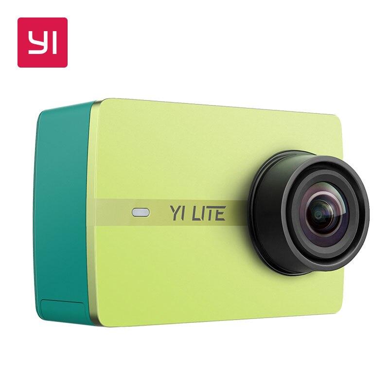YI Lite действие Камера 16MP Настоящее 4 К Мини Спорт Камера со встроенным WI-FI 2 дюймов ЖК-дисплей Экран 150 градусов широкий формат объектив черный