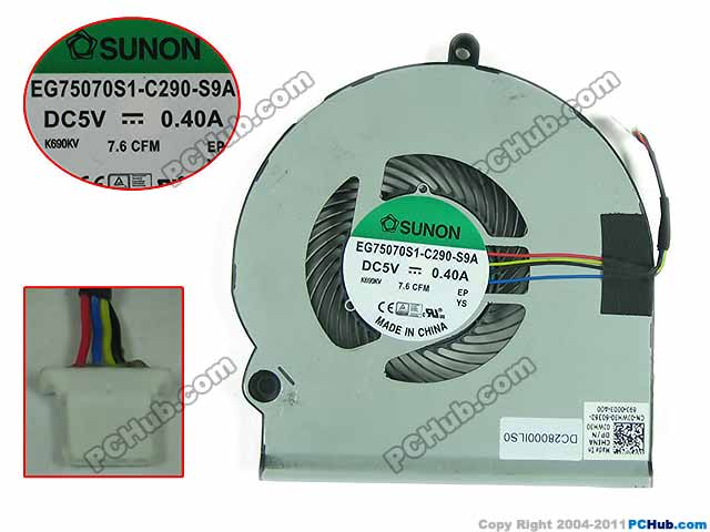 Free Shipping For SUNON EG75070S1-C290-S9A, 0JWH30 DC 5V 0.40A 4-wire 4-pin Server Laptop Fan free shipping for sunon eg50040v1 c06c s9a dc 5v 2 00w 8 wire 8 pin server laptop fan