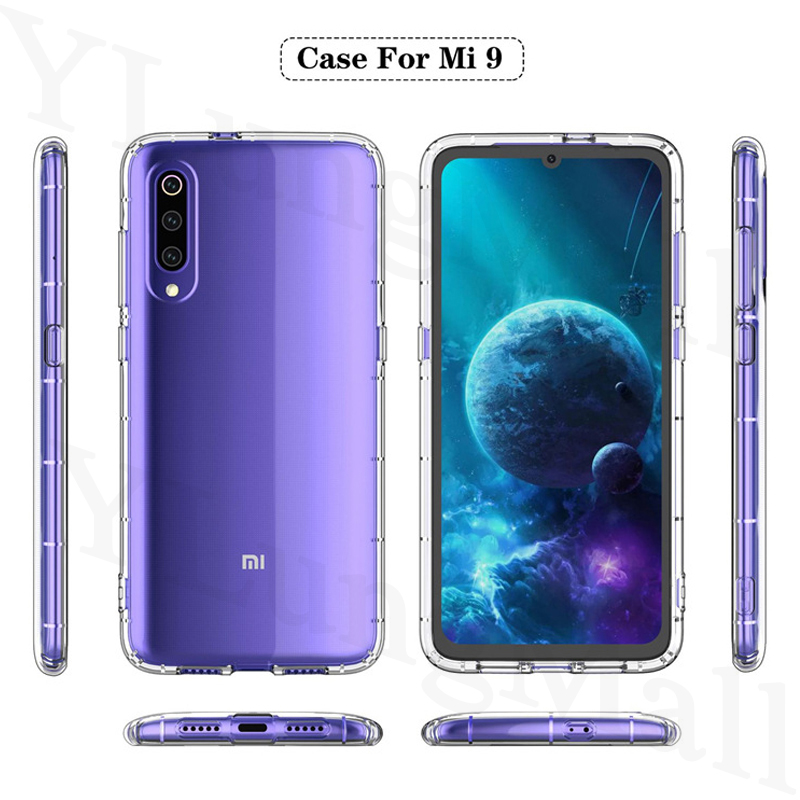 Shockproof Case for Xiaomi Mi 9T Pro 9 8 Explorer Lite A2 A1 Mix 2s Redmi Note 7 K20 6 5 Pro Plus 4 4X Soft Transparent Cover in Fitted Cases from Cellphones Telecommunications