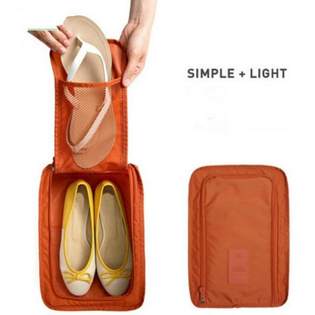 Travel Storage Bag Nylon Portable Waterproof Organizer Bags Carry Bag Shoe Bag Shoes Sandals Sorting Pouch 6 Colors Organizer