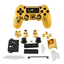 Hot Game Controller Shell Chrome Glod Housing +Button Gamepad Controller Accessories Case For PS4 Gamepad Controller