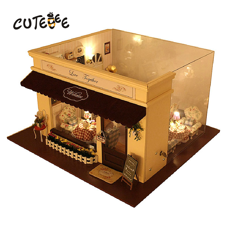CUTEBEE Doll House Miniature DIY Dollhouse With Furnitures Wooden House  Toys For Children Birthday Gift the melody love A-019 cutebee doll house miniature diy dollhouse with furnitures wooden house toys for children birthday gift best tours a 027